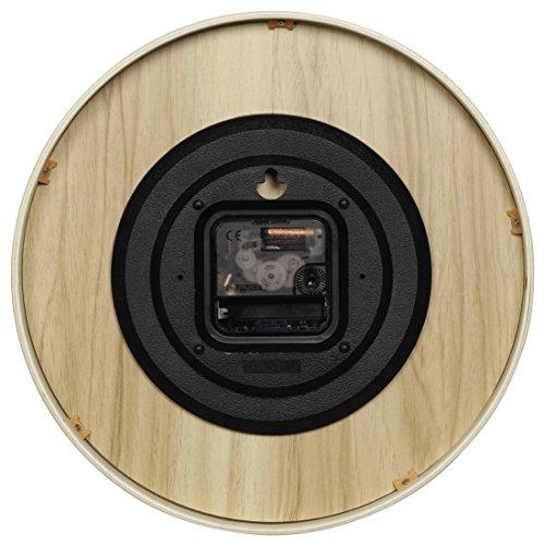 Hama-Wanduhr-HG-250-Holz-geruscharme-Uhr-ohne-Ticken-25-cm-Durchmesser-weinatur-0-1