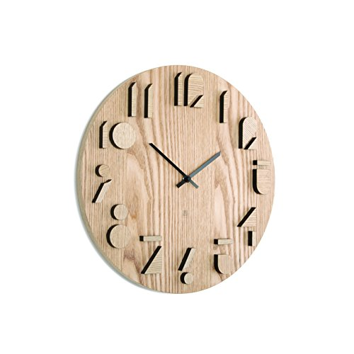 Umbra Holz Wanduhr Shadow