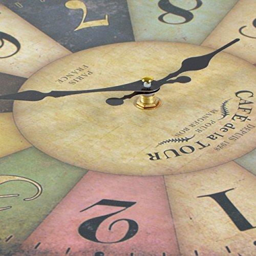 Wanduhr-Cafe-Tour-Holz-Kchenuhr-mit-groem-Ziffernblatt-aus-MDF-Retro-Uhr-im-angesagtem-Shabby-Chic-Design-mit-leisem-Quarz-Uhrwerk--32-cm-0-3