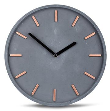 hochwertige-beton-uhr-wanduhr-in-grau-kupfer-28cm-rund-moderne-wanddeko-designer-uhr-1