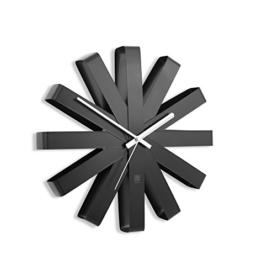 umbra-118070-040-ribbon-moderne-gebogene-wand-designuhr-schwarz-matt-1