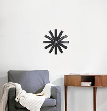 umbra-118070-040-ribbon-moderne-gebogene-wand-designuhr-schwarz-matt-3