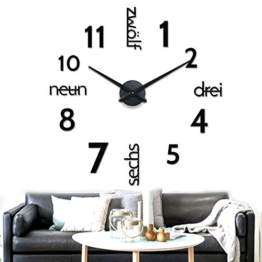 wanduhr xxl gro e auswahl an modellen wanduhren shop24. Black Bedroom Furniture Sets. Home Design Ideas