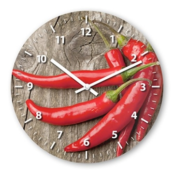 Küchenuhr mit Motiv Peperoni | wanduhren-shop24