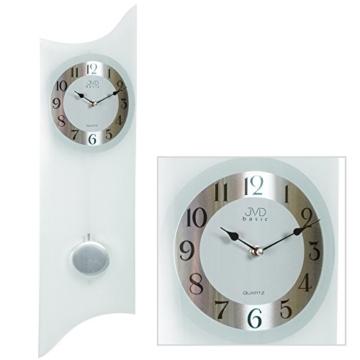 jvd pendeluhr n23873 mit glas wanduhren shop24. Black Bedroom Furniture Sets. Home Design Ideas